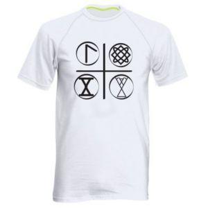 Męska koszulka sportowa Symbole