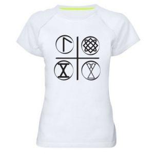 Damska koszulka sportowa Symbole