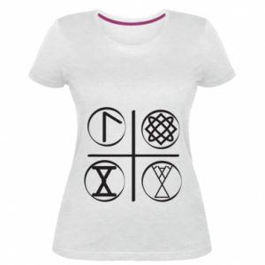 Damska premium koszulka Symbole