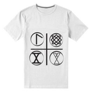 Męska premium koszulka Symbole