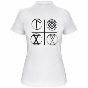 Damska koszulka polo Symbole