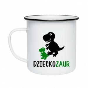 Enameled mug Son dinosaur