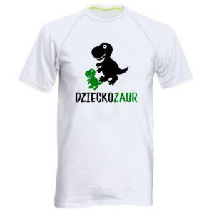 Men's sports t-shirt Son dinosaur