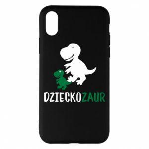 iPhone X/Xs Case Son dinosaur