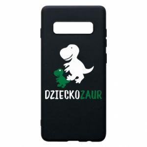 Samsung S10+ Case Son dinosaur