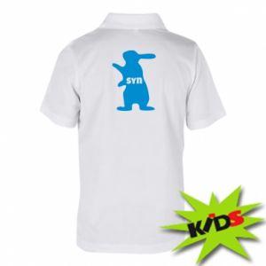 Dziecięca koszulka polo Syn - królik