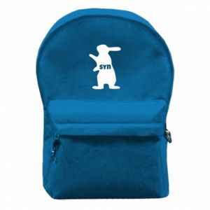 Backpack with front pocket Son - Bunny - PrintSalon