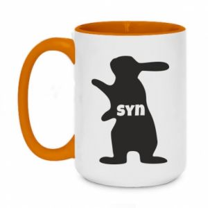 Two-toned mug 450ml Son - Bunny