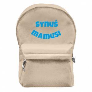 Plecak z przednią kieszenią Synuś mamusi
