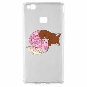 Etui na Huawei P9 Lite Syrenka Cat
