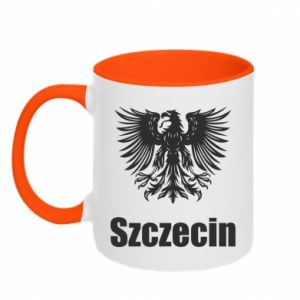 Kubek dwukolorowy Szczecin - PrintSalon