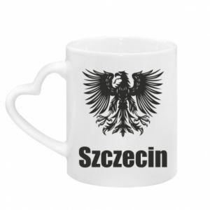 Mug with heart shaped handle Szczecin