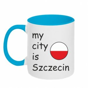 Two-toned mug My city is Szczecin