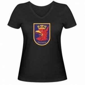 Women's V-neck t-shirt Szczecin