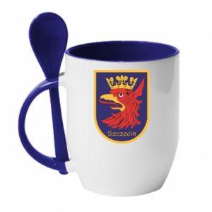 Mug with ceramic spoon Szczecin