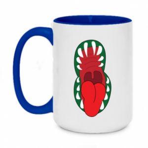 Two-toned mug 450ml Monster jaw