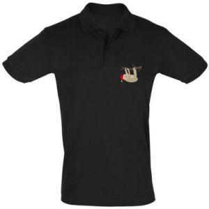 Koszulka Polo Szczęśliwy leniwiec na gałęzi