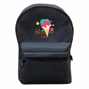 Backpack with front pocket Happy summer
