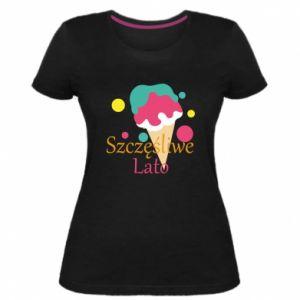 Damska premium koszulka Szczęśliwe lato - PrintSalon