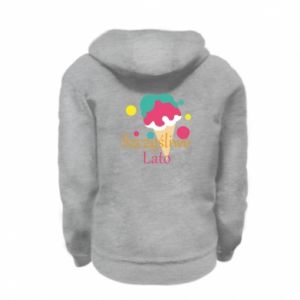 Kid's zipped hoodie % print% Happy summer