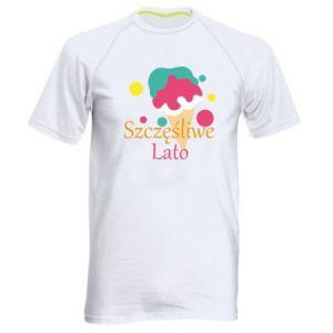 Men's sports t-shirt Happy summer