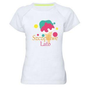 Damska koszulka sportowa Szczęśliwe lato