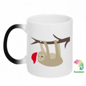Kubek-magiczny Szczęśliwy leniwiec na gałęzi