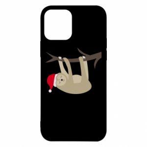 Etui na iPhone 12/12 Pro Szczęśliwy leniwiec na gałęzi