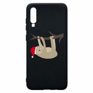 Phone case for Samsung A70 Happy sloth on branch