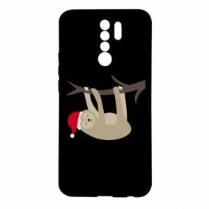 Etui na Xiaomi Redmi 9 Szczęśliwy leniwiec na gałęzi