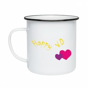 Enameled mug Happy Valentine's day