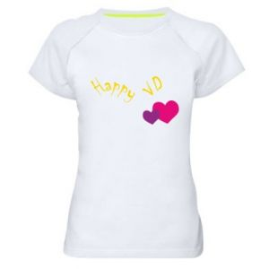 Women's sports t-shirt Happy Valentine's day