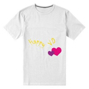 Męska premium koszulka Szczęśliwy walentynki - PrintSalon