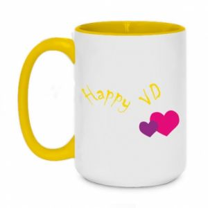 Two-toned mug 450ml Happy Valentine's day