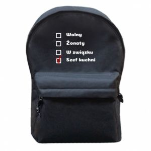 Backpack with front pocket The chef, for him - PrintSalon