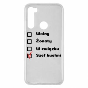Etui na Xiaomi Redmi Note 8 Szef kuchni, dla niego