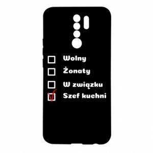Etui na Xiaomi Redmi 9 Szef kuchni, dla niego
