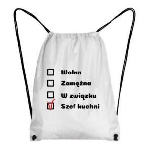 Plecak-worek Szef kuchni, dla niej