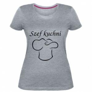 Damska premium koszulka Szef kuchni