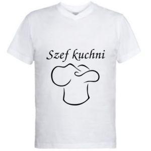 Męska koszulka V-neck Szef kuchni