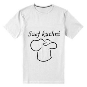 Męska premium koszulka Szef kuchni