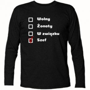 Koszulka z długim rękawem Szef, mężczyzna
