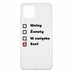 Etui na Samsung Note 10 Lite Szef, mężczyzna