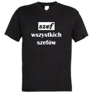 Męska koszulka V-neck Szef wszystkich szefów!