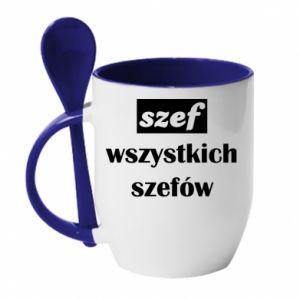 Kubek z ceramiczną łyżeczką Szef wszystkich szefów!