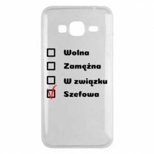 Phone case for Samsung J3 2016 Boss - woman - PrintSalon