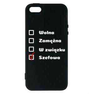 Phone case for iPhone 5/5S/SE Boss - woman - PrintSalon