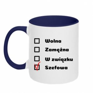 Two-toned mug Boss - woman - PrintSalon