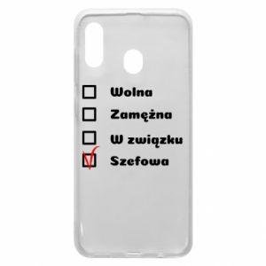 Phone case for Samsung A20 Boss - woman - PrintSalon