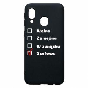 Phone case for Samsung A40 Boss - woman - PrintSalon